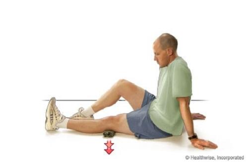 تمرین انقباض عضله چهارسر ران