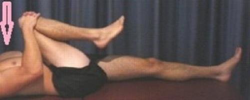 حرکت کشش  یک زانو در شکم