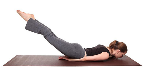 yoga poses - Locust Pose position (salabhasana)